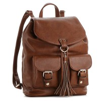 Mix. No 6 Double Pocket Tassel Backpack