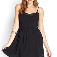 Mesh Insert Cami Dress