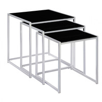 DHP Kale Glass Nesting Tables - Set of 3