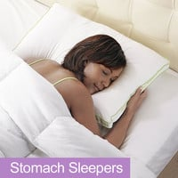 BioSense 2™ Slim Profile Pillow for Stomach Sleepers