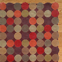 Circles Teak Tufted Rug | Rugs| Home Decor | World Market