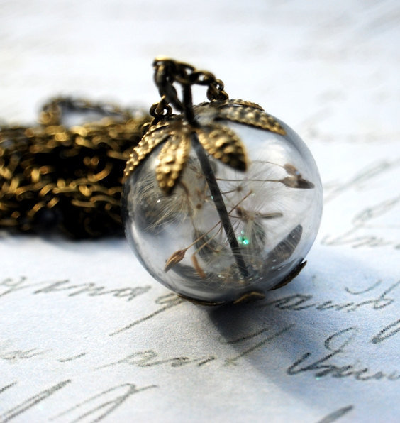 Real Dandelion Necklace 07 Real Dandelion by NaturalPrettyThings