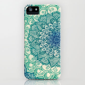 Emerald Doodle iPhone   iPod Case by Micklyn