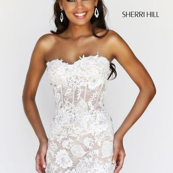 Prom Dresses – Sherri Hill 11054 Short Lace