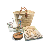 Sideways Seagrass Picnic Basket