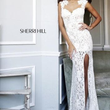 Sherri Hill Homecoming Dresses - Sherri Hill 4316 Long Lace