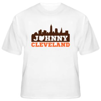 Johnny Cleveland Skyline Football T Shirt