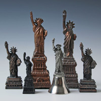 collection of statue of Liberty figures