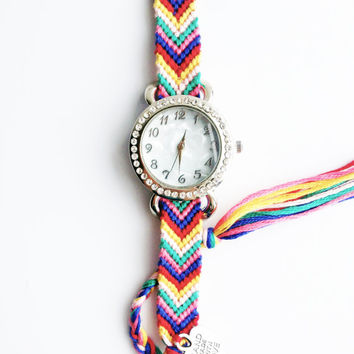 Knotted Chevron Watch W/ Jeweled Face | CUSTOMIZE | Lavender Vanilla Infused
