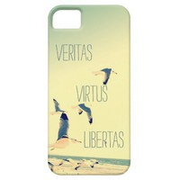 Latin quote iPhone 5 s case Seagulls Ocean