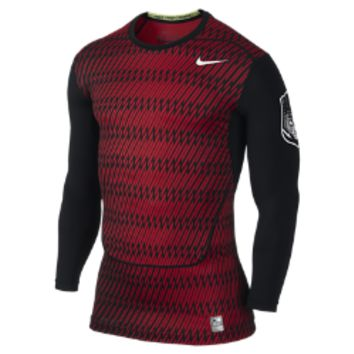 Nike Pro Combat Core Compression Long-Sleeve Menx27s Football