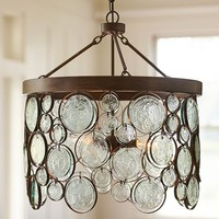 EMERY RECYCLED INDOOR/OUTDOOR GLASS CHANDELIER