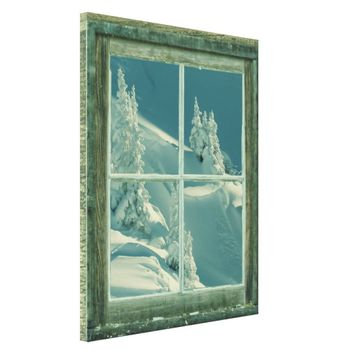 Rustic Winter Window Wonderland