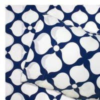 Jonathan Adler Navy Hollywood Duvet Cover