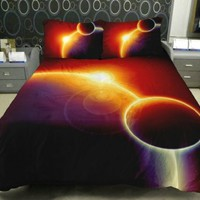 Luxury Bedding The Gift Ideas For Wife Set 2 Sides Printing Galaxy Quilt Duvet Cover Galaxy Bed Linen Sheets With 2 Galaxy Pillow Covers Twin