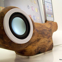 iPhone Speaker Docking Station with iPad Stand by rockapplewood
