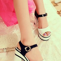 Peep-toe Platform High Heel