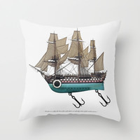 To catch a sea monster Throw Pillow by John Medbury (LAZY J Studios) | Society6