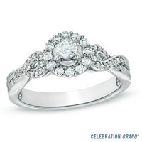 Celebration Grand® 1/2 CT. T.W. Diamond Engagement Ring in 14K White Gold (H-I/I1)