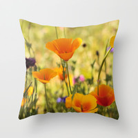 Summer Garden - JUSTART © Throw Pillow by JUSTART  * Syl *