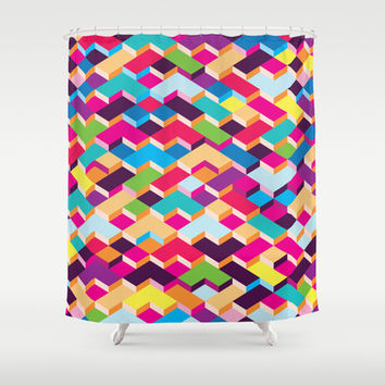 Shapes Shower Curtain by Ornaart