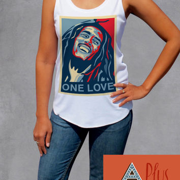 Bob Marley One Love Tank Top - Reggae Ska Rocksteady Music T Shirts