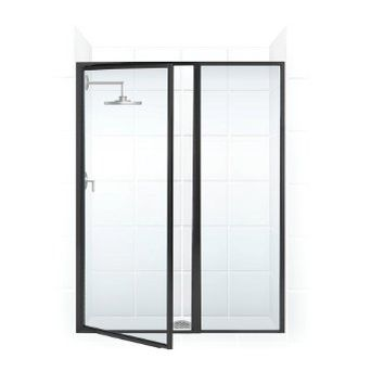 Legend Series Hinge Shower Door and Inline Panel | Coastal Shower Doors | (Oil-Rubbed Bronze) (Clear Glass)