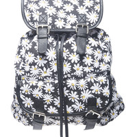 Daisy Print Backpack | Wet Seal