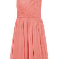 J.Crew | Lucienne one-shoulder silk-chiffon dress | NET-A-PORTER.COM