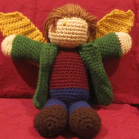 Supernatural's Gabriel Crocheted Plushie by willowenigma on Etsy