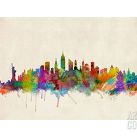 New York City Skyline Photographic Print by Michael Tompsett at Art.com