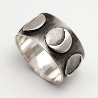 Lunar Ring  silver by BlindSpotJewellery on Etsy