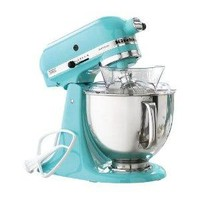 KitchenAid Martha Stewart Blue Collection KSM150PSAQ Stand Mixer, Artisan 5 Quart. Tiffany Blue Aqua Sky Color.