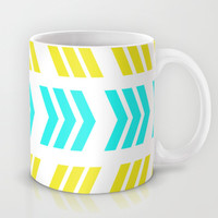 Aqua Pop Zig Zag Mug by Lisa Argyropoulos | Society6