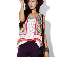 Papaya Clothing Online :: BOHEMIAN HIGH-LOW TOP