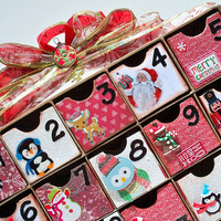 U-Fill Advent Calendar - Christmas Advent Calendar - Christmas Bows - Countdown Calendar - Christmas Mittens