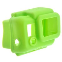 Protective Hooded Silicon Cover Case for GoPro HD HERO3 Green