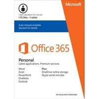 Microsoft Office 365 Personal (1 Mac or PC + 1 Tablet) (1-Year Subscription) - Mac/Windows