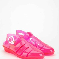JuJu Footwear Tinkerbelle Mini-Wedge Heeled Jelly Sandal - Urban Outfitters