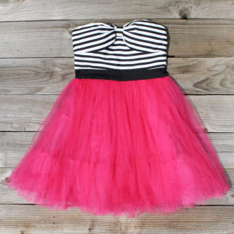 Tulle &amp; Thread Dress in Strawberry