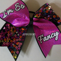 Im So Fancy Sequin Large Cheer Bow Cheerleading