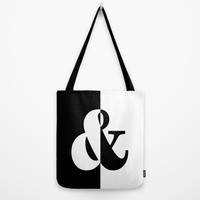 Black & White Tote Bag by BeautifulHomes | Society6