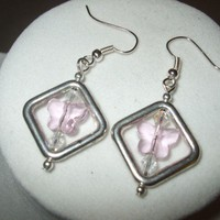 NEW Butterfly Diamonds - Pink Swarovsky Crystal Butterfly Earrings | DesignsByAmyB - Jewelry on ArtFire
