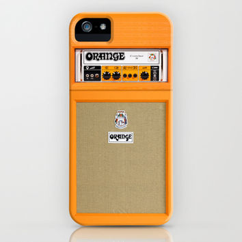 Retro Orange guitar electric amp amplifier apple iPhone 4 4s, 5 5s 5c, iPod & samsung galaxy s4 case
