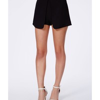 Missguided - Berdnica Black Split Front Skort