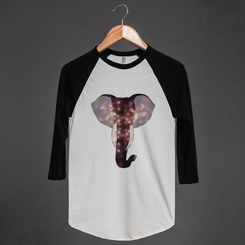 Geometric Elephant Print | Raglan T-shirt | Skreened