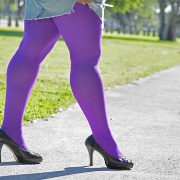 Plus Sized Colored Tights | Tights for Women | We Love Colors