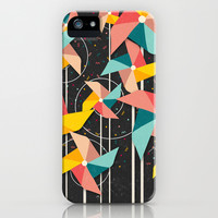 Colorful Pinwheels iPhone & iPod Case by Danny Ivan