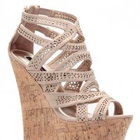 Nude Laser Cut Curves Ahead Cork Wedges @ Cicihot Wedges Shoes Store:Wedge Shoes,Wedge Boots,Wedge Heels,Wedge Sandals,Dress Shoes,Summer Shoes,Spring Shoes,Prom Shoes,Women's Wedge Shoes,Wedge Platforms Shoes,floral wedges