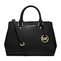 MICHAEL Michael Kors Sutton Medium Satchel | Dillards.com
